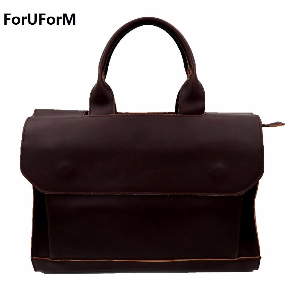 2017 new arrival men s messenger bags Leather Shoulder Messenger Business Computer Briefcase 14 inch laptop