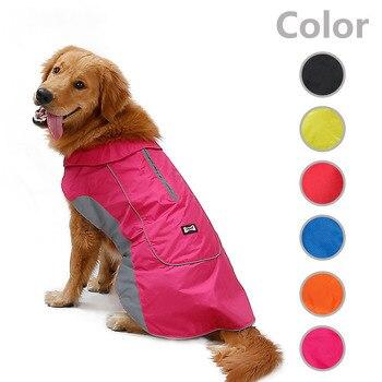 HJKL Dog Raincoat Waterproof clothes Outdoor Rain Coat Jacket Coat Fleece Warm Reflective Safe55