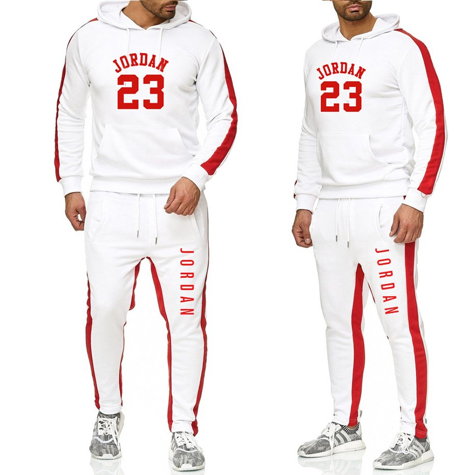 Men Track Suit Hooded Jacket Sweatsuit Men s Sports Suits brand New Men Jogger Set Printed Tracksuit Men Clothes 2019