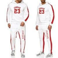 Men Track Suit Hooded Jacket Sweatsuit Men s Sports Suits brand New Men Jogger Set Printed Tracksuit Men Clothes 2019