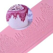 Силиконовая кружевная форма Mom & Pea GX147, бесплатная доставка, большой размер, украшение для торта, 3D форма для мастики, пищевой силикон