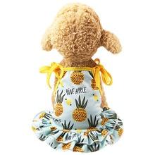 Топ Мода Pet костюм для пар Щенок Собака Принцесса Прекрасный Клубника/ананас платье 0523