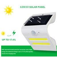 20 قطعة/الوحدة 3led 2COB الشمسية الصمام الشمسية ضوء استشعار الحركة الشمسية بدعم الأمن الذكي الجدار الخفيفة حديقة ثلاث طرق