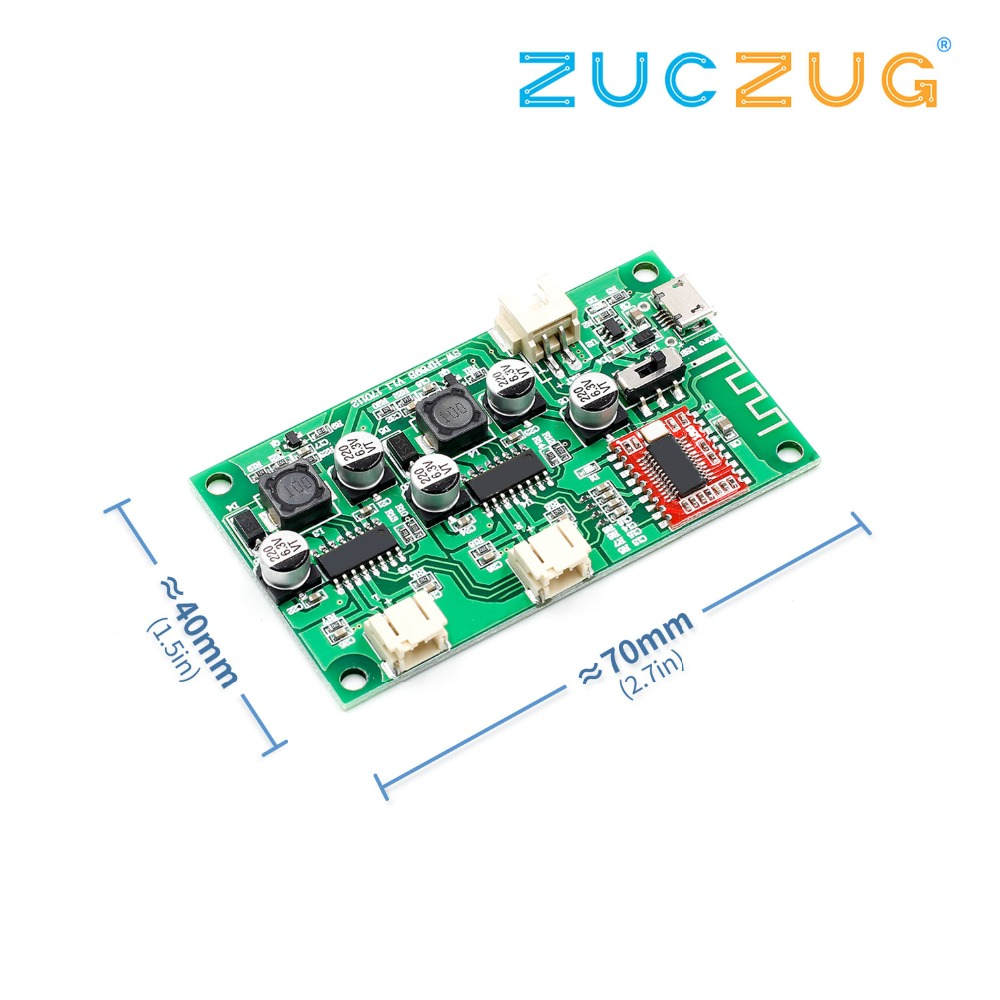 2x6W DC <font><b>5V</b></font> 3.7V speaker modified Stereo <font><b>Bluetooth</b></font> <font><b>amplifier</b></font> board can connected lithium battery with charge management A8-020 image