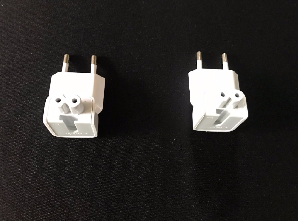 Gratis 2 stks / partij Nieuwe Muur AC EU Plug Voor Apple iPad iPhone USB Charger MacBook Pro 29 w 45 w 60 w 85 w 61 w 87 w Power Adapter oplader