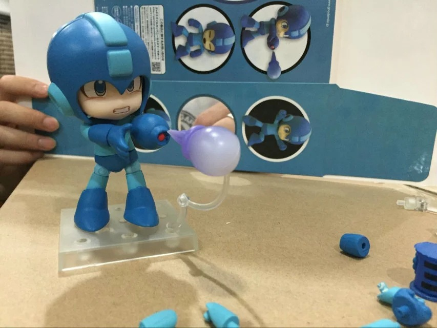 Huong Anime Figure Nendoroid 556 Mega Man Rockman Capcom Rock PVC Action Collection Model Toy Doll Gifts