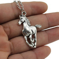 """2017 New Women Jewelry Vintage Silver Tone 1.0""""X1.5"""" Cool Horse Pendant Short Necklace Girls Gift DY57 Free Shipping"""