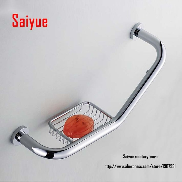 New Arrival Chrome Antique Rose Gold Br Grab Bars Bathroom Shower Bar With Soap Dish