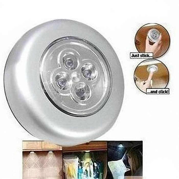 4 Led ランプホーム浴室電池ワードローブスティックをタップタッチライト用キャビネット旅行ライト