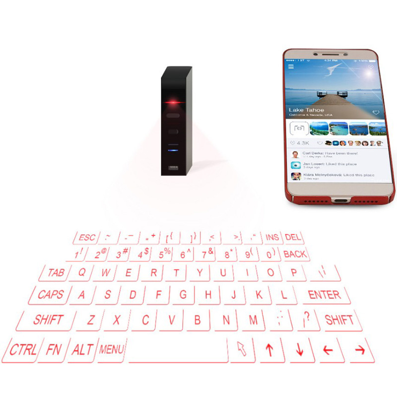 Bluetooth Virtual Laser Keyboard Wireless Projection keyboard Portable for Android Smart Phone Tablet PC Notebook F1 quwind german keyboard bluetooth wireless keyboard for ipad pc notebook laptops for ios and android white
