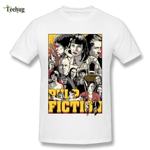 2018 Summer Fashion Pulp Fiction T Shirt Movie Graphic Cotton Print Mans T-Shirts Camiseta