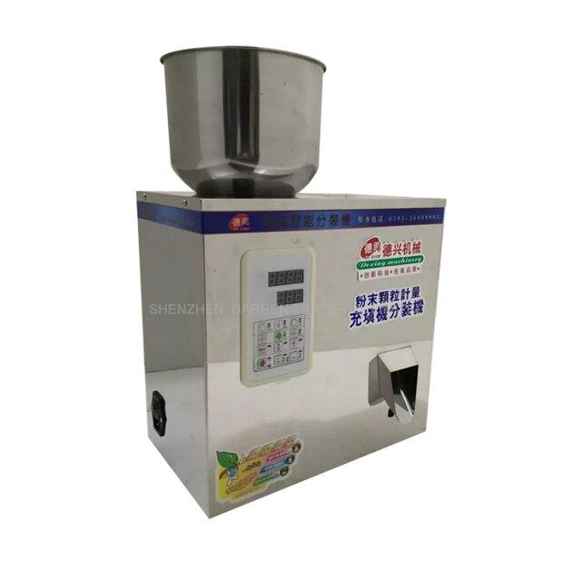 5-100g Tea Packaging Machine Grain Filling Machine Granule Medlar Automatic Salt Weighing Machine Powder Seedfiller