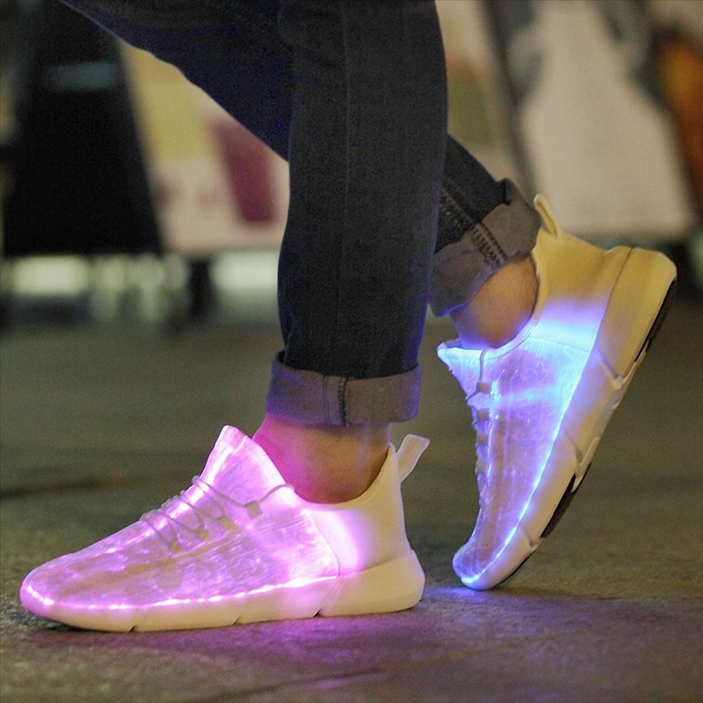 Children Light Shoes USB Charge Boys Girls LED Lighted Shoes Kids Sneaker Children Light Up Shoes Kids Glowing Shoes