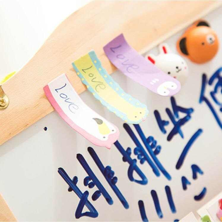 30pcs/lot New cute animals stick marker memo note pad  many designs label korea style Wholesale