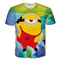 Alisister new fashion women/men cartoon minions t shirt print despicable me 3d t shirt Clothing summer women graphic t shirts
