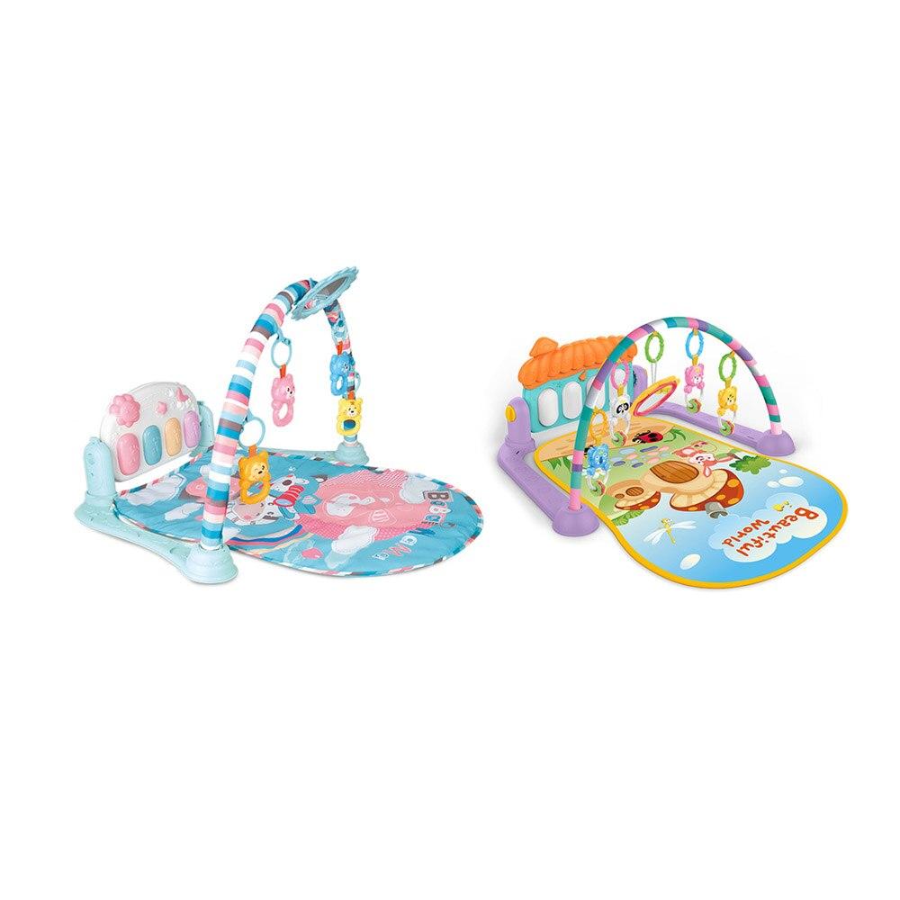 Puzzle tapis avec clavier mignon jouet bébé jouer tapis activité Piano Gym dessin animé Animal Playmat ramper tampons bébé tapis éducatif