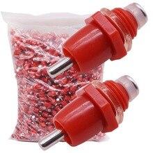 500 Con Gà Núm Vú Người Uống Chỉ Đường Kính 10 Mm Thép Không Gỉ Và Nhựa ABS Chất Liệu PVC Ống Nước Núm Cố Định Gia Cầm uống