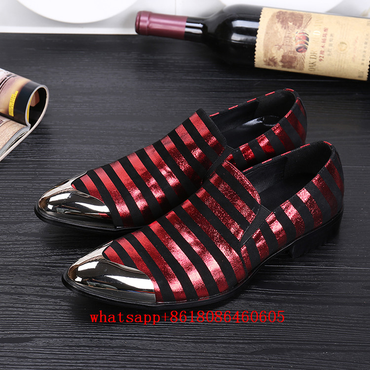 Choudory Classic red wedding shoes genuine leather iron toe gold dress  shoes men loafers formal oxford plus size velvet slippers-in Formal Shoes  from Shoes ... d61a00562723