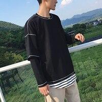 2018 Nuovo Modo di Arrivo Hoodies cappotto del cotone degli uomini di colore Nero O-collo Casuale Pullover Slim Fit fashion Felpe plus size XL