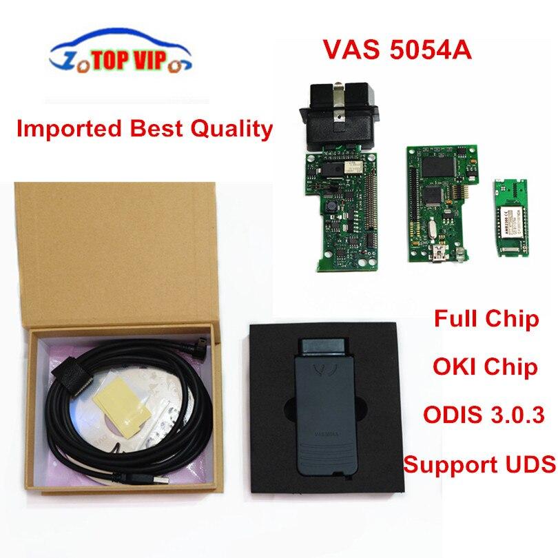 Meilleur Qualité Importé Plein Puce ODIS V4.0.0 VAS 5054A OKI Puce VAS5054A Bluetooth Soutien UDS Complet Puce VAS5054 De Diagnostic-outil