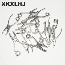 XKXLHJ 20pcs Charms pliers tool 23*10mm Tibetan Silver Plated Pendants Antique Jewelry Making DIY Handmade Craft