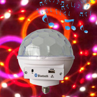 E27 LED RGB Disco Ball Entertainment Center Party Lights Home Color Music Audio System Sound Box Light Music Team Dance Lamp