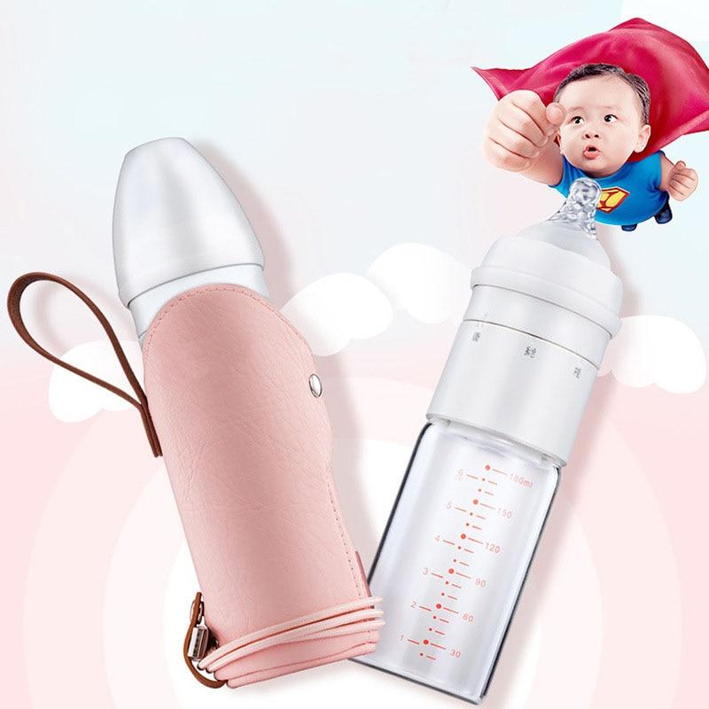 Warm Baby Bottle Heat Preservation Dry wet Depart Baby Feeding Bottle Travel Bottle Silicone Pacifier Feeder For Baby Feeding