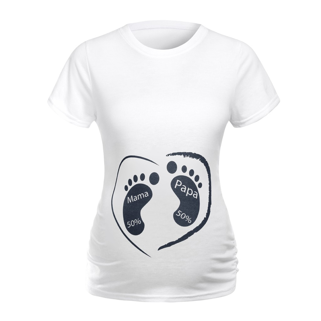 Women Maternity Short Sleeve Cartoon Print T-shirt Pregnancy Clothes plus size shirts maternity top clothes for pregnant women