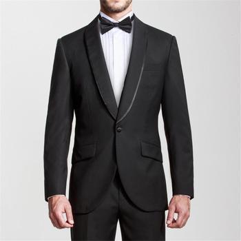 Custom Made Men Suits Custom Made Groom Suits Black Lapel mens tuxedos for wedding Groomsmen suits (Jacket+Pants)