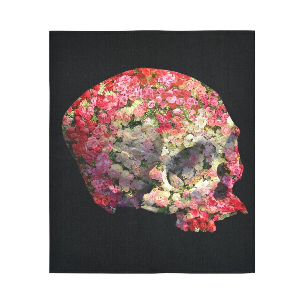 Sugar flower skull home decor tapestries wall art skull pink flower sugar flower skull home decor tapestries wall art skull pink flower tapestry wall hanging art sets in tapestry from home garden on aliexpress mightylinksfo