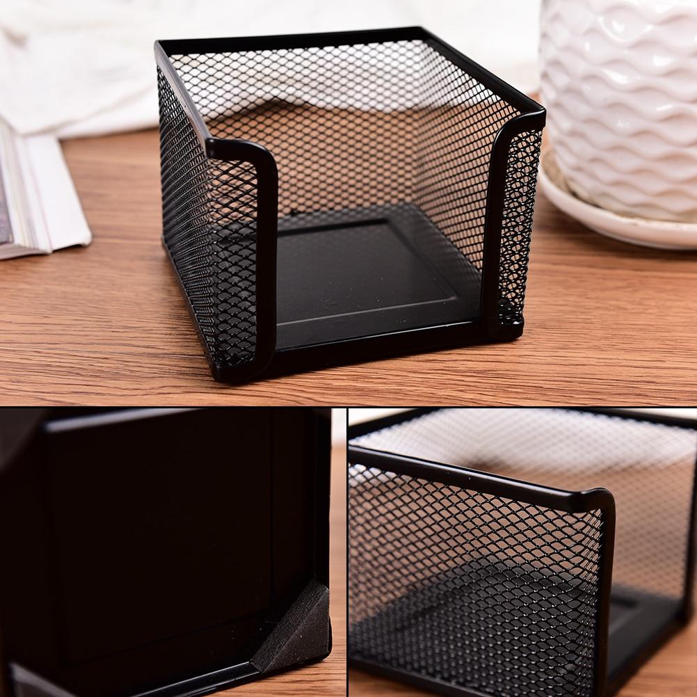 Metal Multifunction Memo Pad Desktop Storage Box Organizer Drawer Pen Card Office Stationary Holder Makeup Cosmetic Box