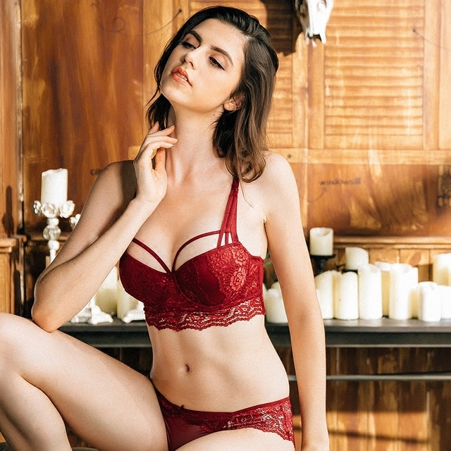 c0b1b94b6f2 ... Sexy Lace Bra Set 3 4 Cup adjustable Push up Vs Bra Lingerie Underwear  Sets For Women 70-85A B C Cup Free Shipping. Previous. Next