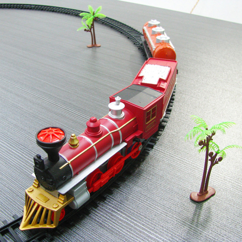 kids electric railway train toys classical enlighten train track 17 pcsset model railroad 1