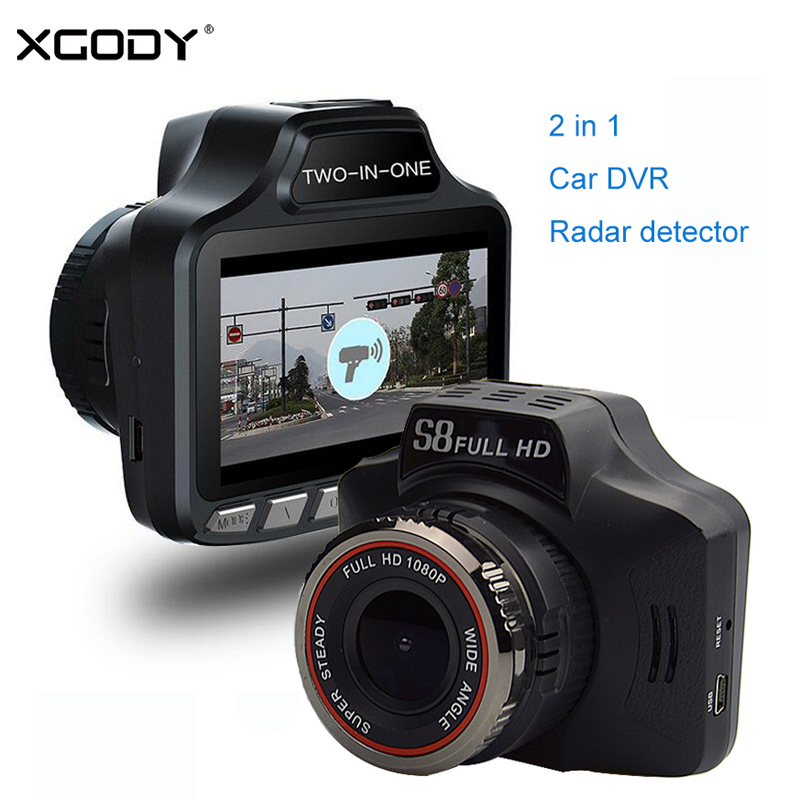 XGODY 2 in 1 Car DVR Radar Speed Detector G-sensor Loop Recording 3.0