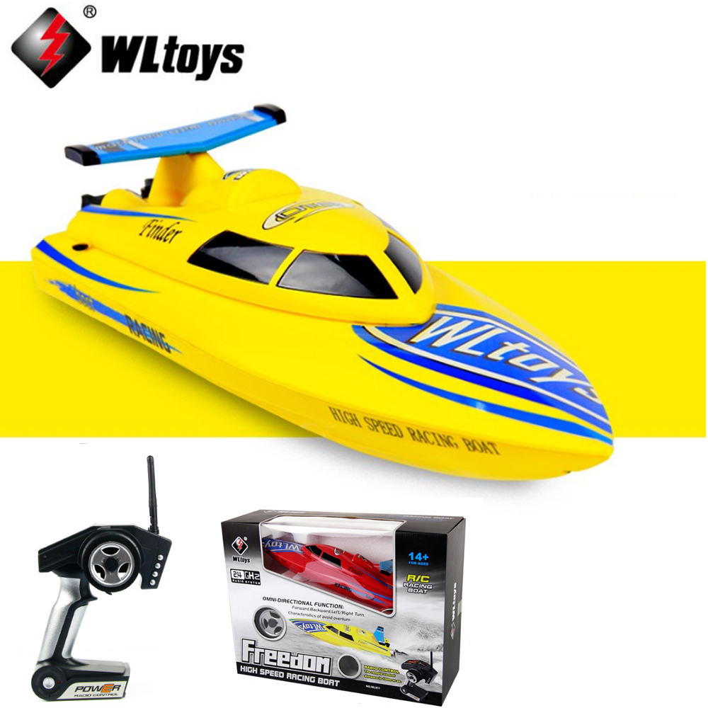 Wltoys WL911 4CH 2.4G High Speed Racing RC Boat RTF 24km/h Remote Control Toys free shipping wltoys wl911 2 4g high speed racing boat spare part wl911 22 370 motor