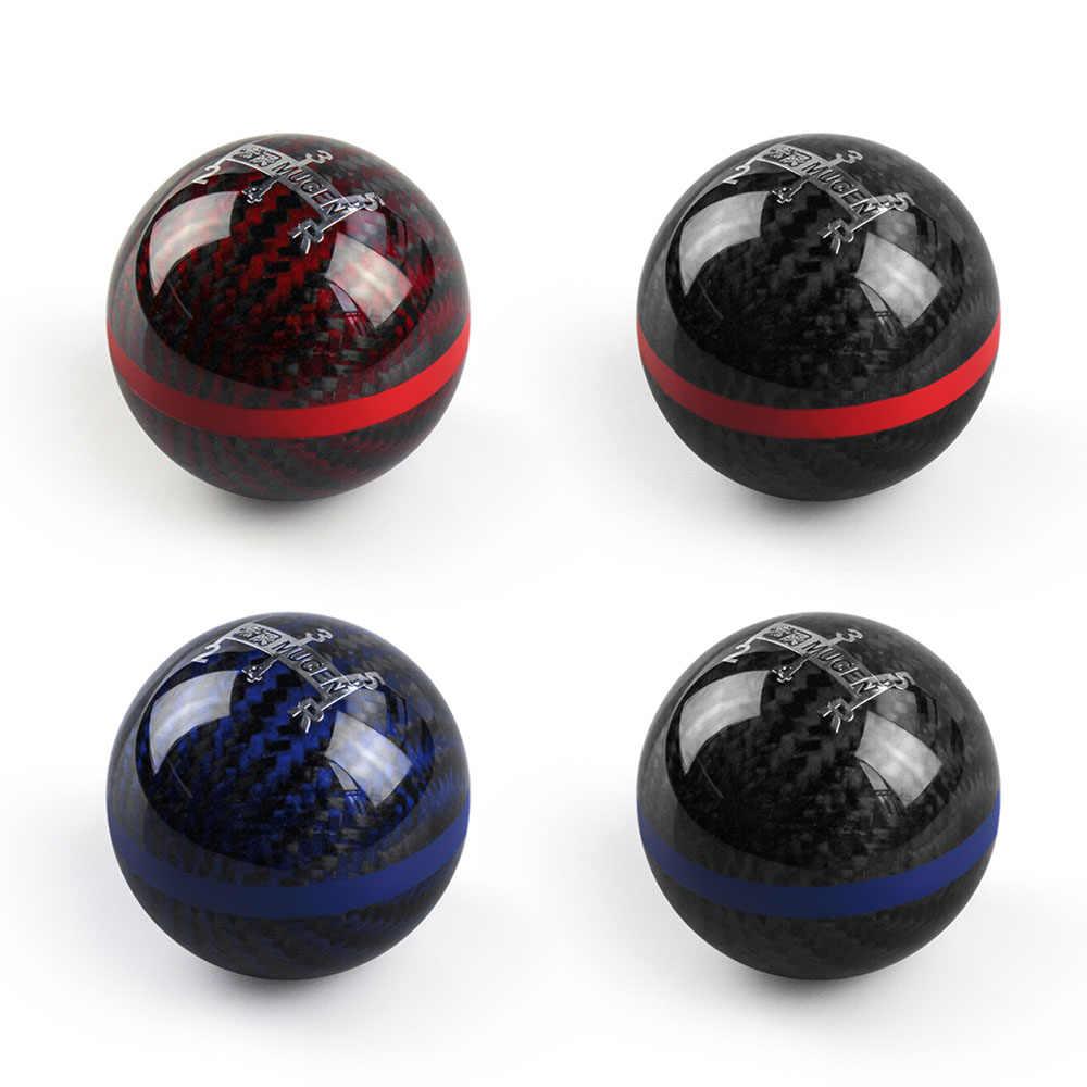 Универсальный из натурального углеродного волокна Mugen 5/6 Скорость ручной/автоматическая ручка переключения сферической Шестерни рукоятка рычага переключения передач RS-SFN013