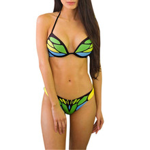 Two Pieces Bikini Women Set Printed High Waist Swimsuit Swimwear Beachwear Bathing Suit brasil