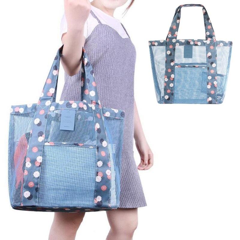 Swimwear Travel Carrying-Case Sports-Handbag Beach-Bag Fashion Women New Mesh Knit Summer