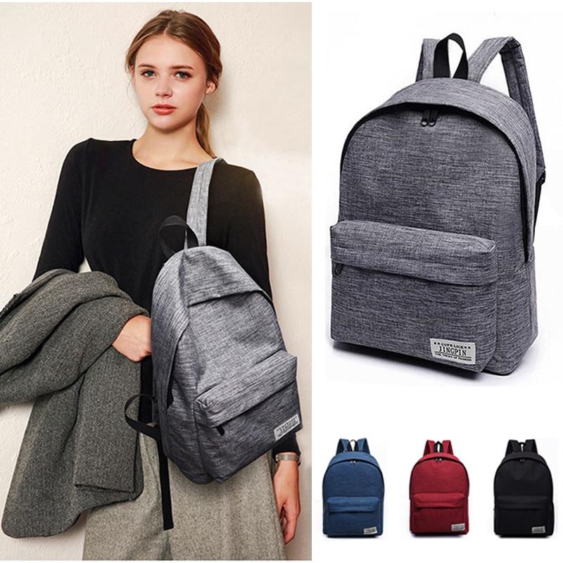 2019 Classical Simple Canvas Women Laptop Backpacks School Bag For Teenager Boy Girl Travel Bagpack Stachels Rucksack Mochila