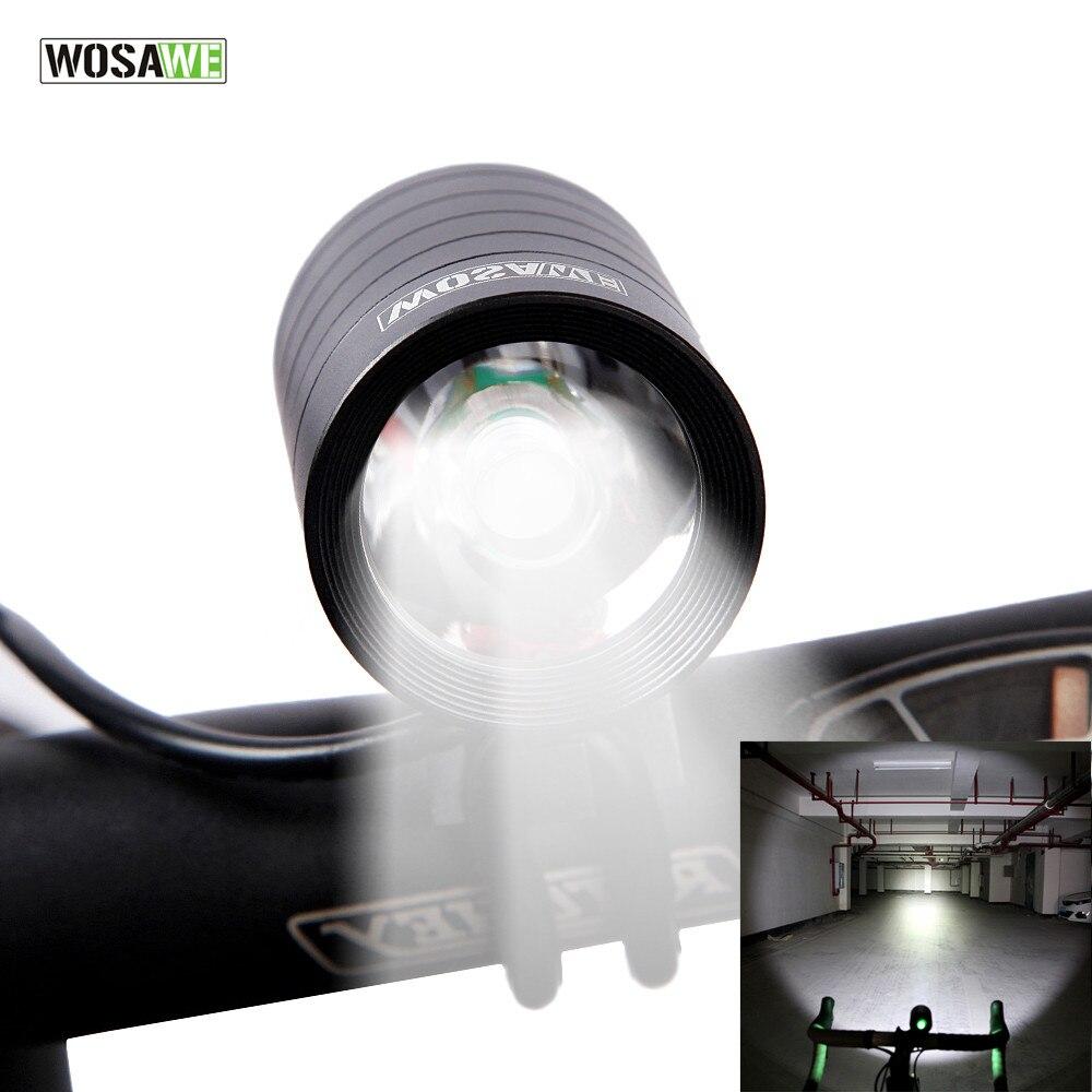 WOSAWE 1200 Lumen Fahrrad Licht Lampe CREE T6 Wasserdicht Radfahren Fahrrad Front Licht Taschenlampe & USB Port Bike Zubehör