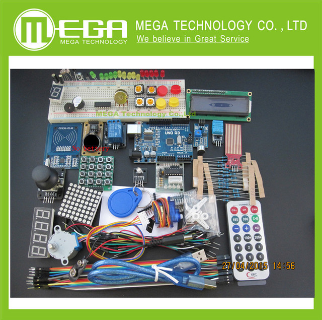 Para UNO R3 KIT versão Atualizada do Starter Kit do RFID aprender Suíte LCD 1602 para ar-duino kit