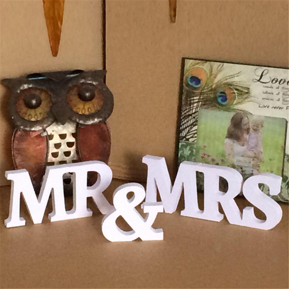 Bhomify деревянные буквы Mr & Mrs Свадебные украшения Романтический Брак День рождения Mr & Mrs письма Свадебный знак