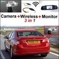 3 in1 Cámara + Receptor Inalámbrico + Monitor Del Espejo Especial diy fácil sistema de aparcamiento para honda para spirior accord europa 2013 ~ 2015