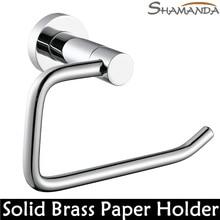 Livraison gratuite salle de bains accessoires en laiton massif cuivre Chrome toilettes aménagé porte – papier rouleau de papier Rack salle de bains Product-96021