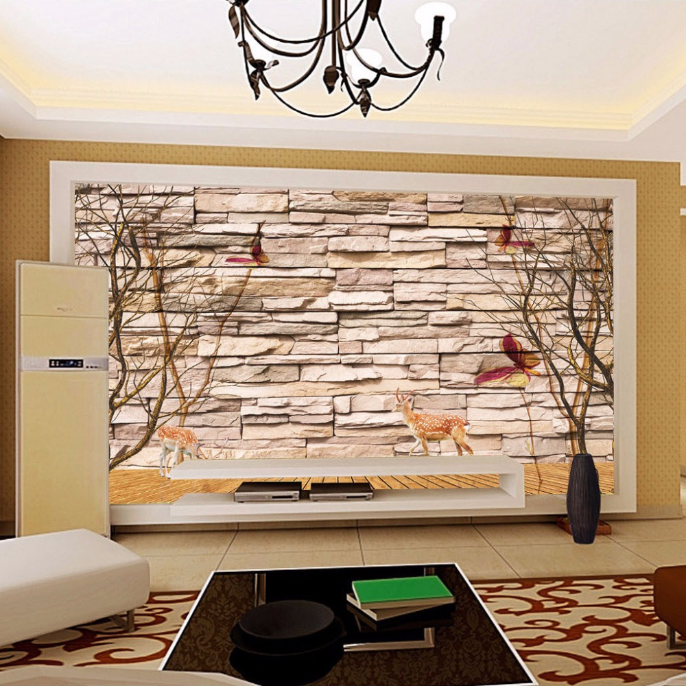 Home improvement modern 3d embossed brick stone wallpaper wall art home improvement modern 3d embossed brick stone wallpaper wall art living room sofa bedroom mural wallpaper customized 3d forest in wallpapers from home amipublicfo Gallery