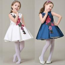 цена на New fashion girls embroidered high-grade dress princess dress   kids dresses for girls  princess dress