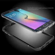 Metal case for samsung galaxy s7 luxury aluminum cases s7 edge cover galaxy s6 bumper luphie frame coque prismatic shape button