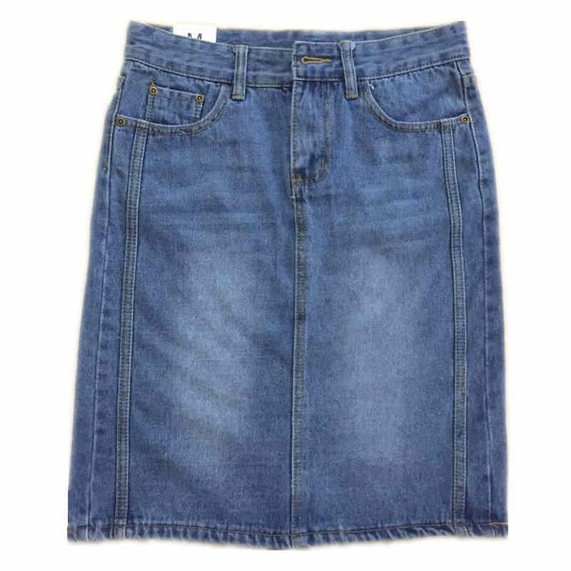 2019 Новая летняя однотонная джинсовая юбка женская с высокой талией Повседневная джинсовая юбка трапециевидной формы с потертостями облегающие джинсовые шорты юбка X743