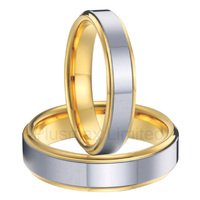 Anel de Casamento titanium steel Top quality female and male pair wedding band rings