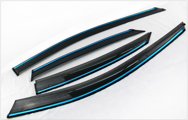 High quality Injection Weather guard Car window visor Rain guard with Chrome trims For Peugeot 307 Car Styling accessories!